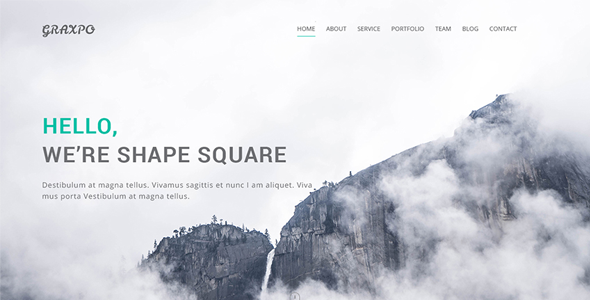 Graxpo – Bootstrap Agency and Portfolio Template HTML