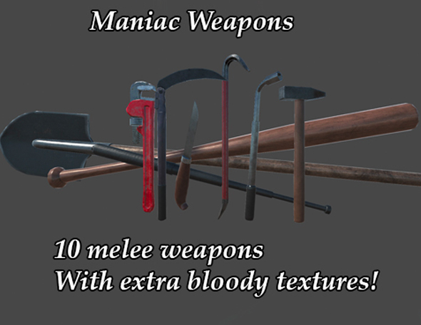 Maniac Weapons Pack(I) - 3DOcean Item for Sale