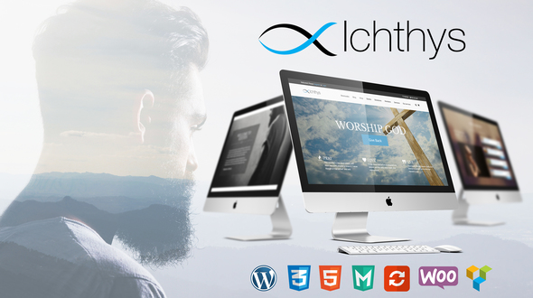 Ichthys – Church / Events / Religion / Donation / Nonprofit / Sermon / Charity WordPress Theme