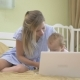 Baby Typing On a Laptop Keyboard. - VideoHive Item for Sale