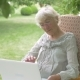 Elderly Woman Talking on a Laptop. - VideoHive Item for Sale