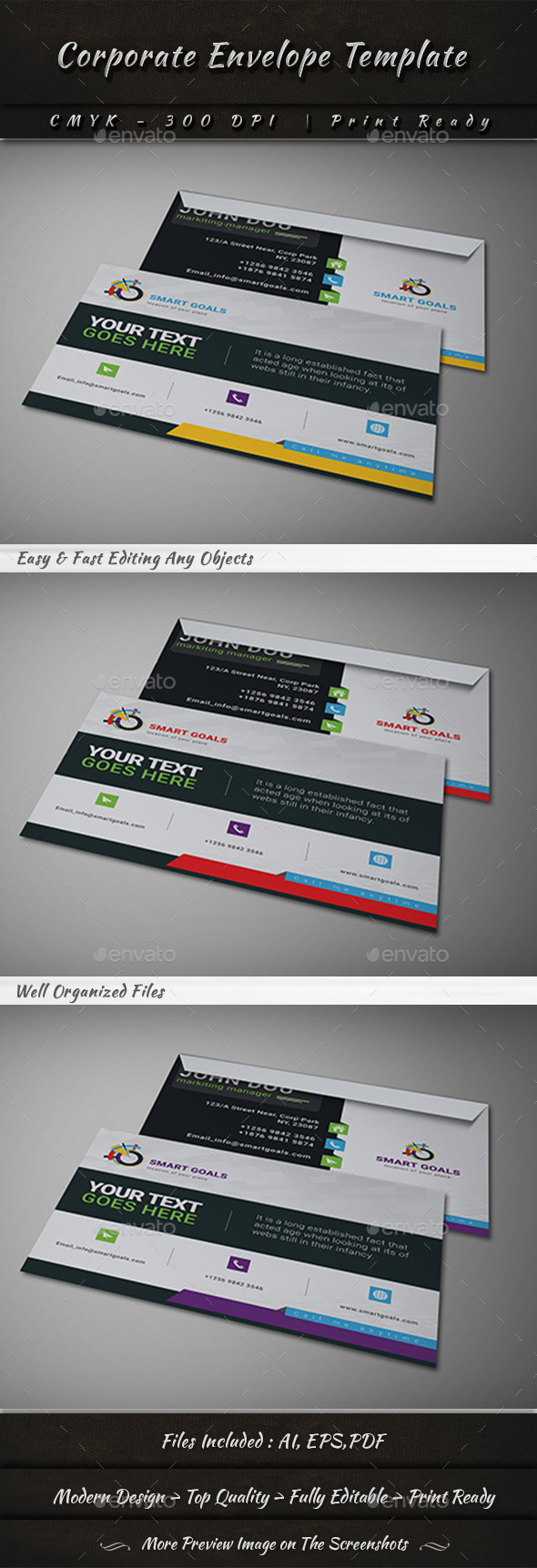 Corporate Envelope Template By Graphicshaper Graphicriver