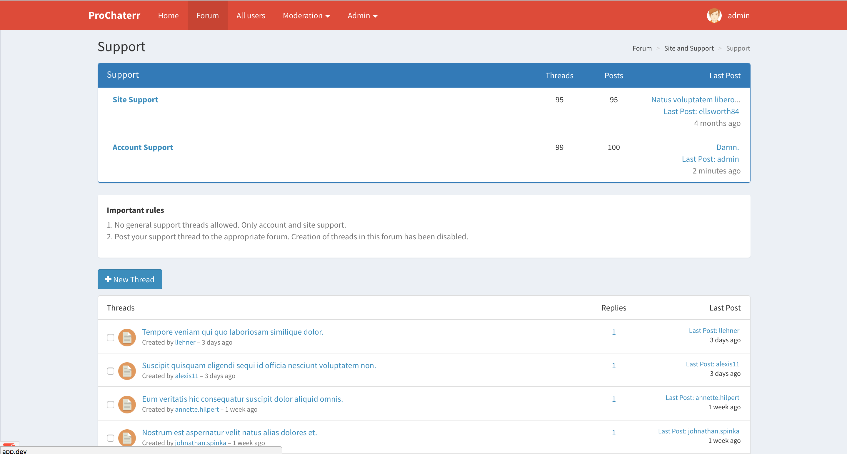 ProChaterr - Laravel Forum System - Full Featured Forum with Moderation and  Admin Panel