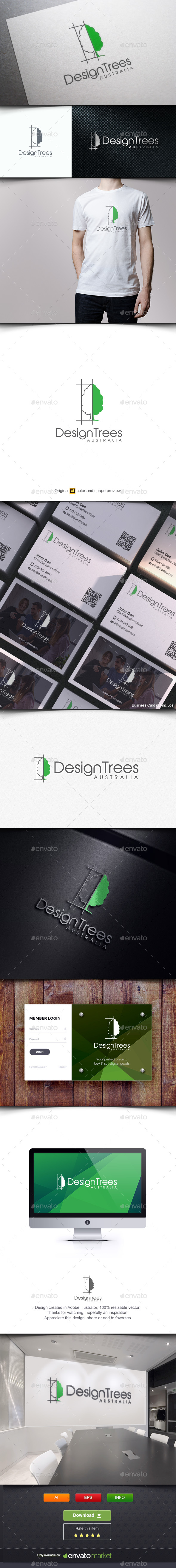 Design Interior Plant - Buildings Logo Templates