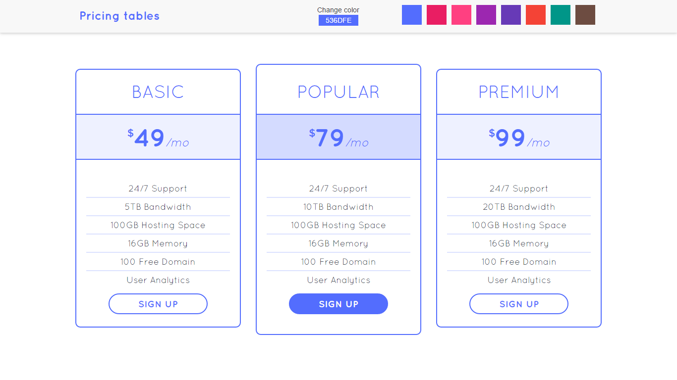 Flight - Responsive Bootstrap Pricing Tables with Color Generator by ...