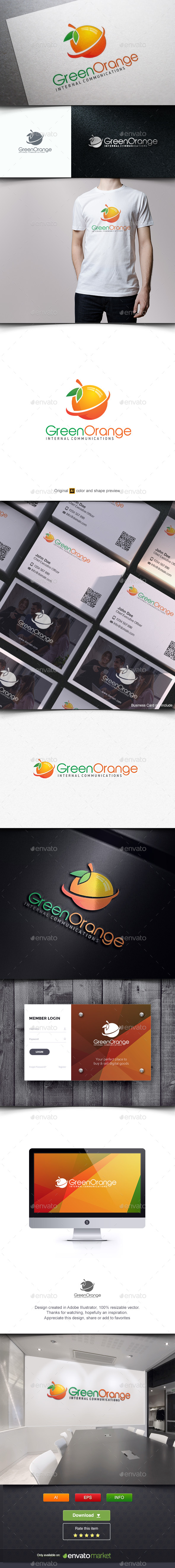 Orange Green - Symbols Logo Templates