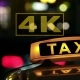 Illuminated Sign Of Taxi Cab Blurred 4 - VideoHive Item for Sale