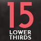15 Simple Lower Thirds - VideoHive Item for Sale