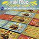Fun Food Coupon Card - GraphicRiver Item for Sale