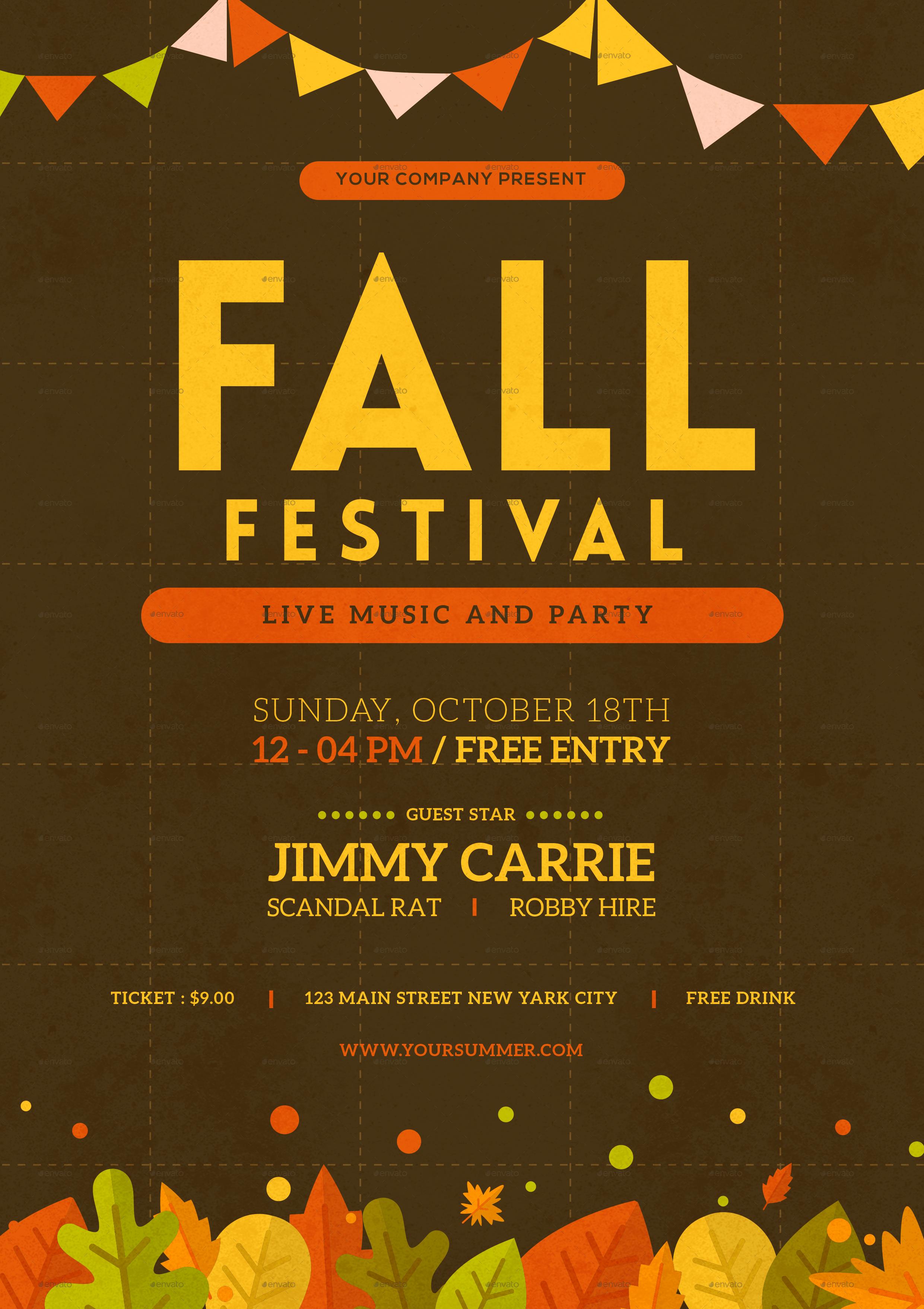 fall fest flyers