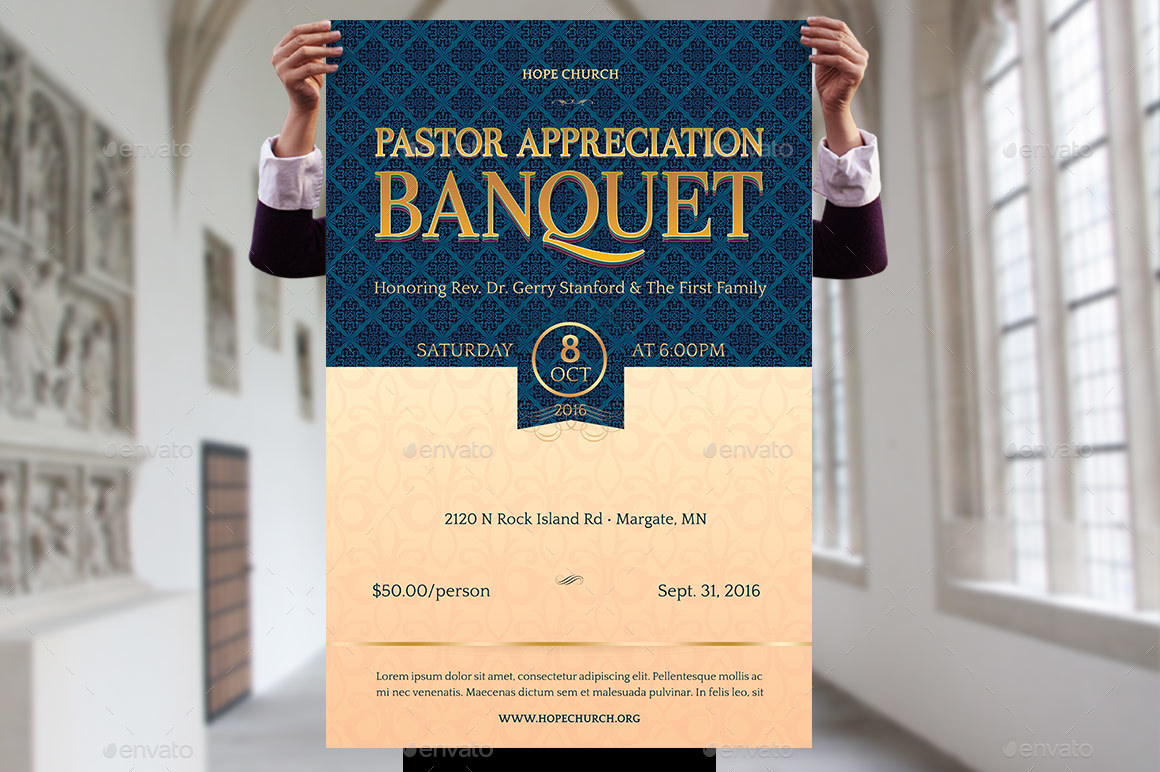 pastor appreciation banquet template kit by godserv2