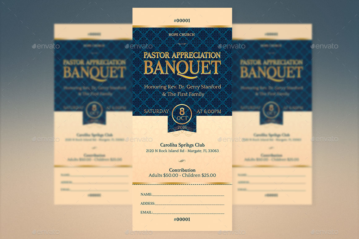Pastor Appreciation Banquet Template Kit by Godserv2 | GraphicRiver