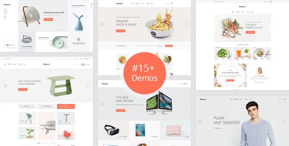 Mazano – Trendy HTML Template
