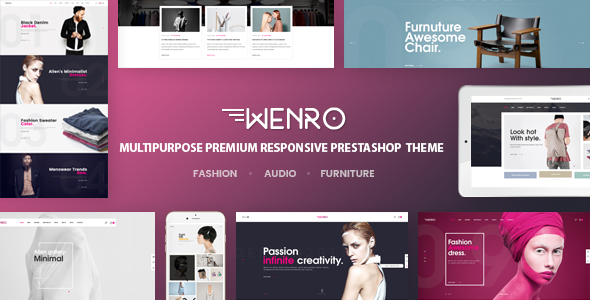 Wenro - Multipurpose Prestashop 1.6, 1.7 Theme | 16 Homepages Fashion, Furniture, Digital and more - Fashion PrestaShop
