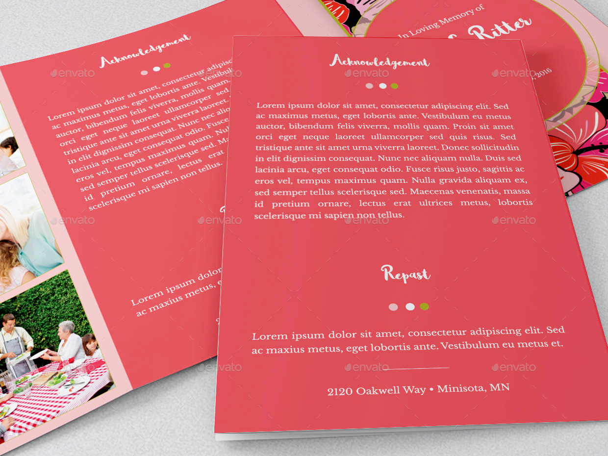 Tri Fold Funeral Program Template Nevse Kapook Co