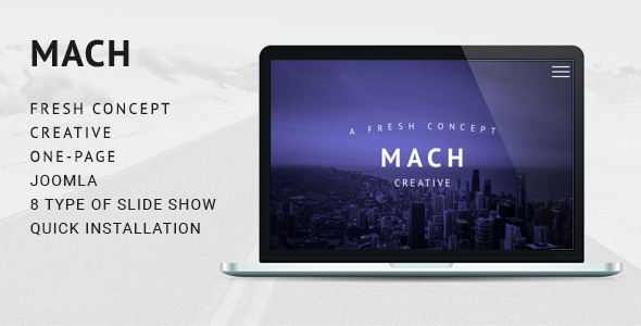 MACH - Fresh Concept One Page Creative Joomla Theme