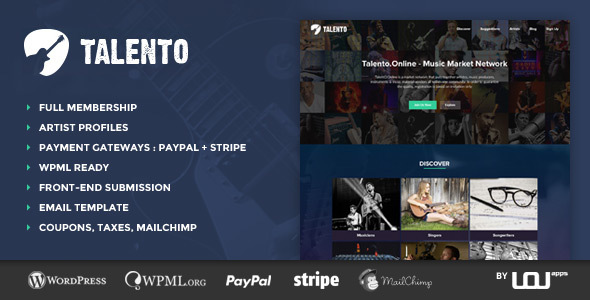 Talento – Music Market Network Theme