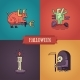 Halloween Characters Line Flat Design Modern Icons - GraphicRiver Item for Sale