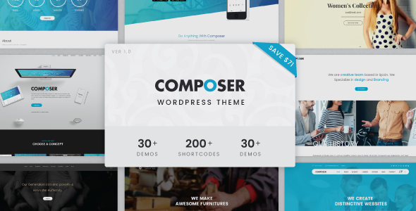 Composer – Responsive Multiconcept Theme