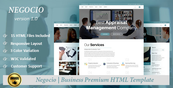 Negocio – Business Premium HTML Template