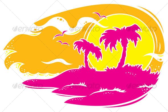 Tropical Sunset - Travel Conceptual