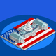 Election Infographic Congress Vector Isometric Building - GraphicRiver Item for Sale