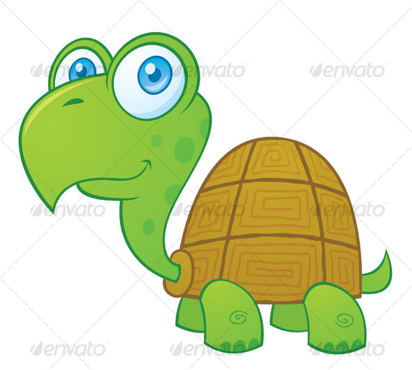 Turtle Cartoon Character - Animals Characters