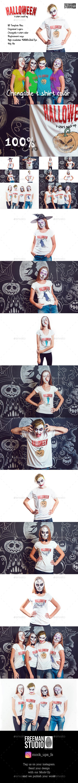 Halloween T-Shirt Mock-Up