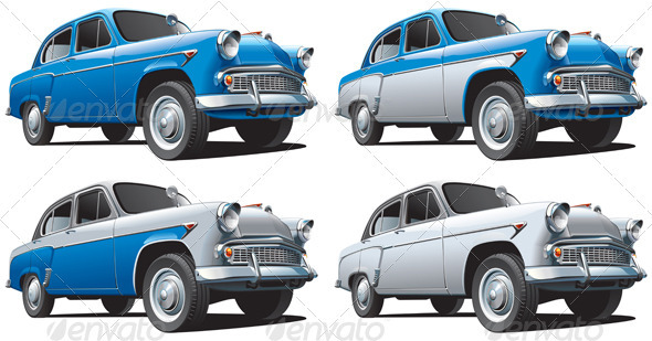 Classical Car No1 - Objects Vectors