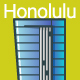 Line Flat Honolulu Banner - GraphicRiver Item for Sale
