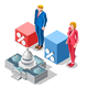 Election Infographic Pools Congress Vector Isometric People - GraphicRiver Item for Sale