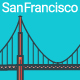 Line Flat San Francisco Banner - GraphicRiver Item for Sale