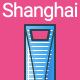 Line Flat Shanghai Banner - GraphicRiver Item for Sale