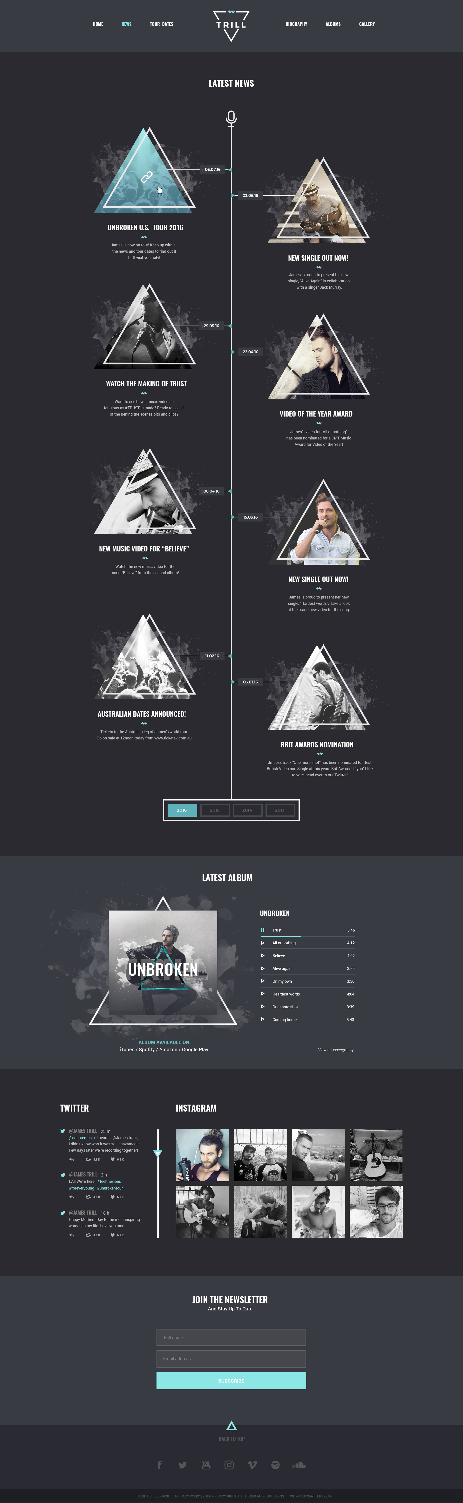 Trill Modern Psd Music Template For Bands Amp Musicians By