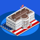 Election Infographic White House US Vector Isometric Building - GraphicRiver Item for Sale