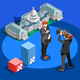 Election News Infographic Capitol Dome Vector Isometric People - GraphicRiver Item for Sale