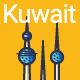 Line Flat Kuwait Banner - GraphicRiver Item for Sale