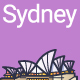 Line Flat Sydney Banner - GraphicRiver Item for Sale