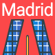 Line Flat Madrid Banner - GraphicRiver Item for Sale
