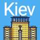 Line Flat Kiev Banner - GraphicRiver Item for Sale