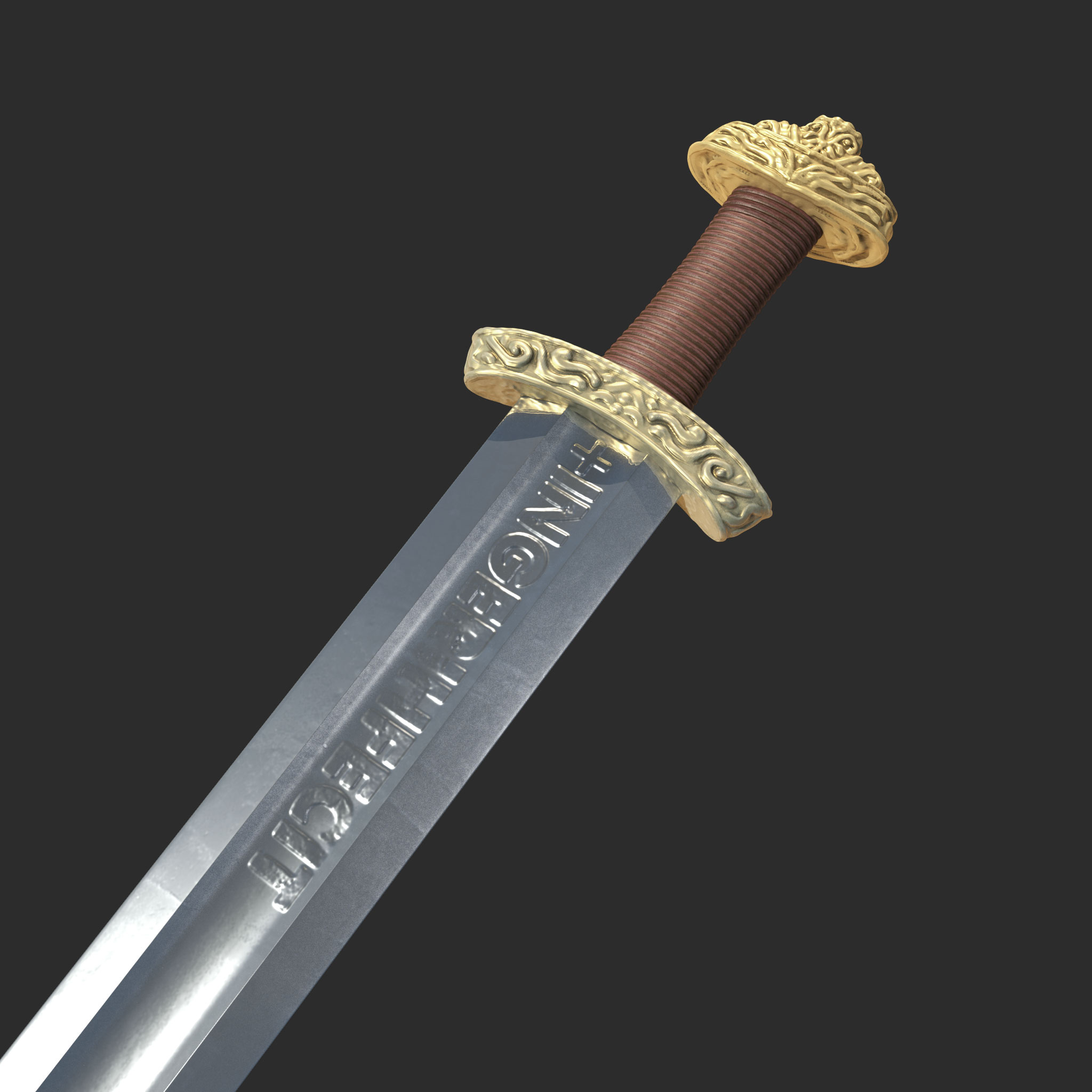 High Quality Viking Sword By Wolfpoly3d 3docean
