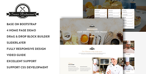 Savor – Restaurant, Cafe & Food Drupal 8 Theme