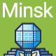 Line Flat Minsk Banner - GraphicRiver Item for Sale