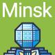 Line Flat Minsk Banner - GraphicRiver Item for Sale