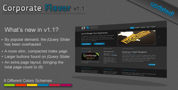 Free Download Corporate Flavor Nulled Latest Version