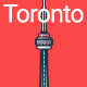 Line Flat Toronto Banner - GraphicRiver Item for Sale