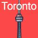 Line Flat Toronto Banner - GraphicRiver Item for Sale