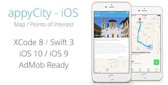 appyCity - iOS City Guide Map App - CodeCanyon Item for Sale