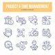 Project & Time Management Doodle Icons - GraphicRiver Item for Sale