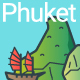 Line Flat Phuket Banner - GraphicRiver Item for Sale
